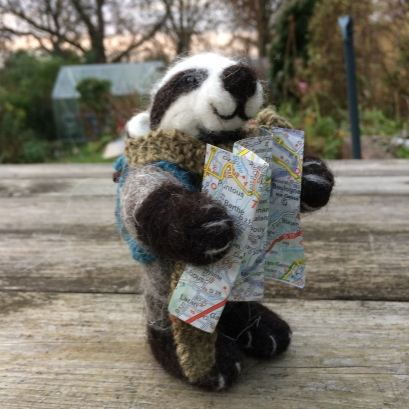 Badger with map