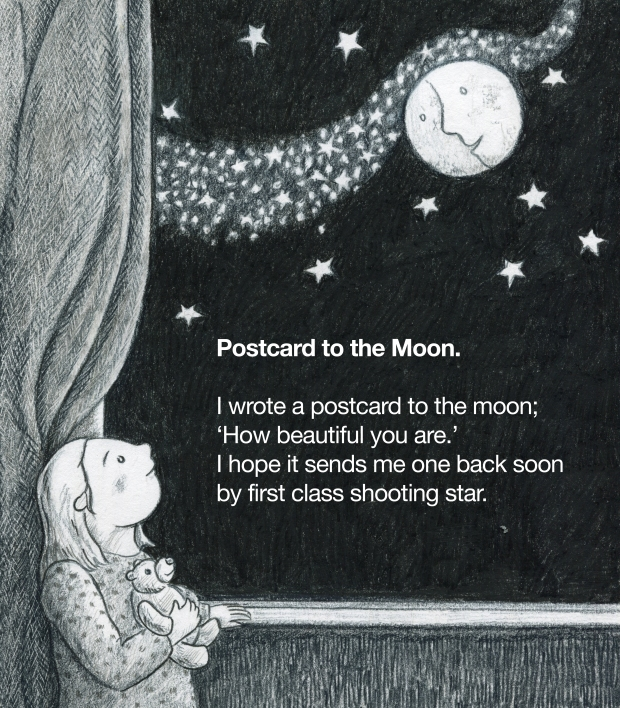 Postcard to the moon